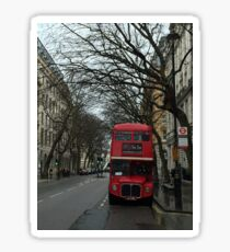 Doppeldecker Bus in January Sticker