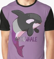 Asexuwhale - mit Text Grafik T-Shirt