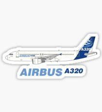 Airbus A320 Illustration Sticker