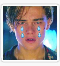 Leo Cryin' Emoji Tears Sticker