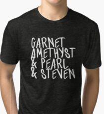 Garnet, Amethyst & Pearl & Steven Tri-blend T-Shirt