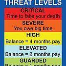 Credit Card Bill : Threat Level by cartoon