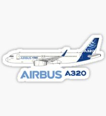 Airbus A320 Illustration With Sharklet Wingtips Sticker