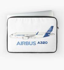 Funda para portátil Ilustración de Airbus A320 con Sharklet Wingtips