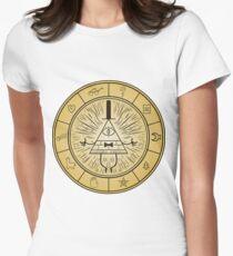 Gravity Falls Bill Cipher Wheel Women's Fitted T-Shirt