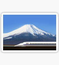 Mount Fuji and Tokaido Shinkansen, Shizuoka, Japan Sticker