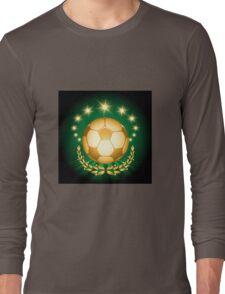 Golden Soccer Ball Long Sleeve T-Shirt