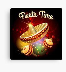 fiesta time theme Canvas Print