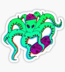Weird Squid Skateboarding Sticker