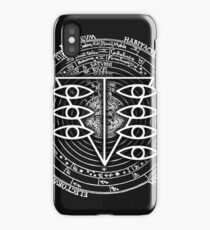 Seele Black Fancy Mandala Evangelion Logo Graphic iPhone Case/Skin
