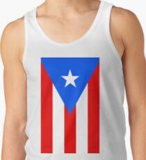 Puerto Rico Flag Banner Tank Top