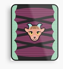PASHMINA ANIMAL CROSSING Metal Print