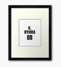 Edward Nygma Jersey Framed Print