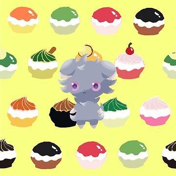 Espurr and Pokepuffs by Octopustempura