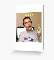 Edups Tv Greeting Card