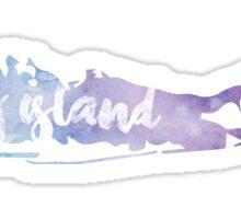 Long Island Water Color Sticker Sticker