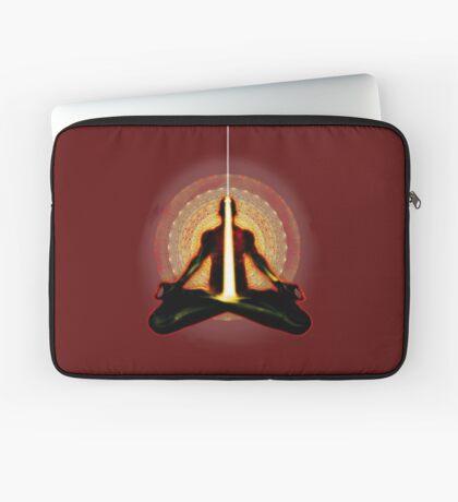 receiving light (meditator) Laptop Sleeve
