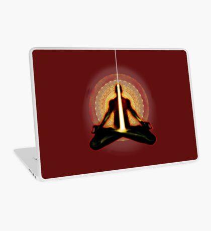 receiving light (meditator) Laptop Skin