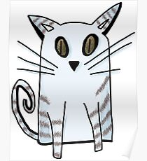 Blue Kitten Poster
