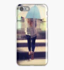 white umbrella iPhone Case/Skin