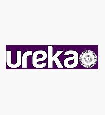 ureka: earth heart community - logo (white) Photographic Print