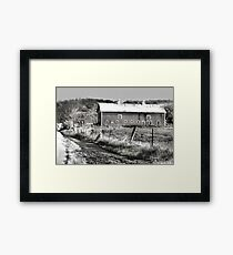 Barn along a Country Road Framed Print