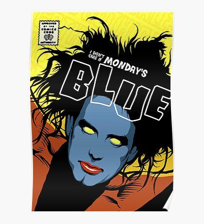 Post-Punk Blue Poster