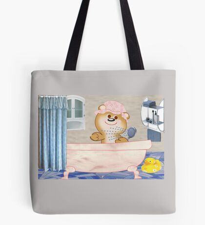 Teddy in the bath tub (6488 Views) Tote Bag