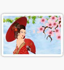 Geisha (15450  views) Sticker