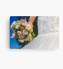 Bouquet & Dress  Canvas Print