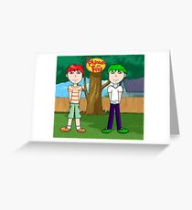 Phineas and Ferb! Greeting Card