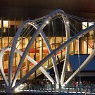Docklands Bridge at Night by MIchelle Thompson