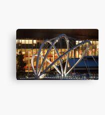Docklands Bridge at Night Canvas Print