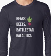 Bears. Beets. Battlestar Galactica. - The Office Long Sleeve T-Shirt
