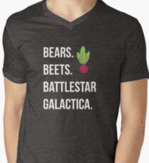 Bears. Beets. Battlestar Galactica. - The Office Men's V-Neck T-Shirt