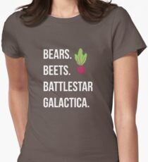 Bears. Beets. Battlestar Galactica. - The Office Womens Fitted T-Shirt