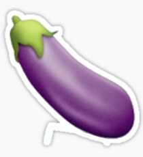 Eggplant Emoji  Sticker