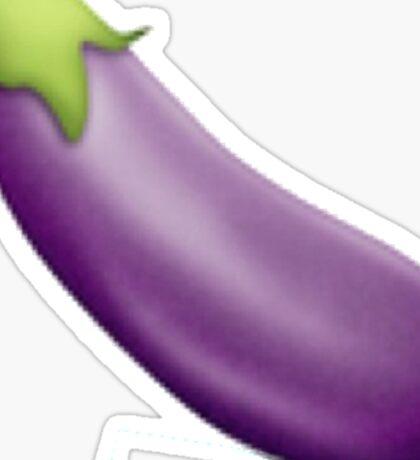 Eggplant Emoji  Sticker