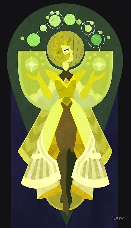 Su yellow diamond posters redbubble for Yellow diamond mural