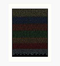 In Rainbows (color) Art Print