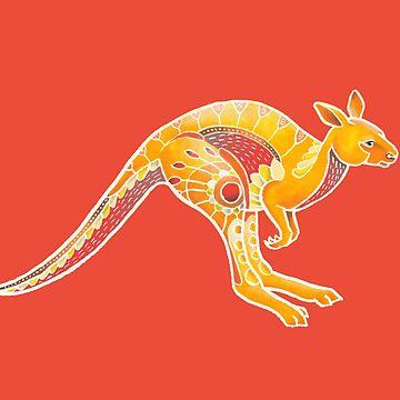 Mandala Kangaroo by Theysaurus