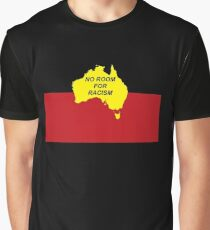 No Room for Racism - Aboriginal Flag (zoomed out) Graphic T-Shirt