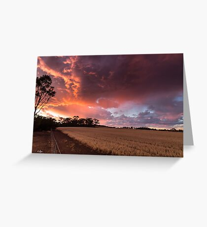Brookton Sunset Greeting Card