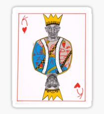 King of Hearts Kendrick Lamar Tupac Shakur Hip Hop Rappers Sticker