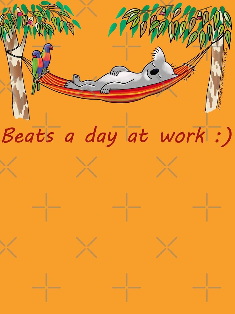 Hammock Sleeping Koala - Beats a day at work by JumpingKangaroo