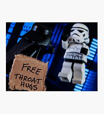 Free Throat Hugs Photographic Print