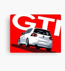 VW Golf 5 GTI Tiremark Canvas Print