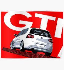 VW Golf 5 GTI Tiremark Poster