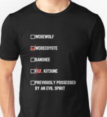Malia Tate- Teenwolf Checklist (dark) Unisex T-Shirt