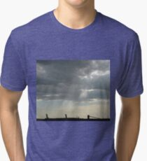 Stormy Steel-city Skyscape Tri-blend T-Shirt